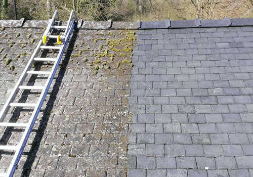 moss removal and roof cleaning Lancashire North West
